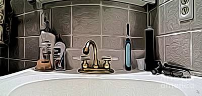 Sink Digital Art - Lav Pano by Ron Bissett