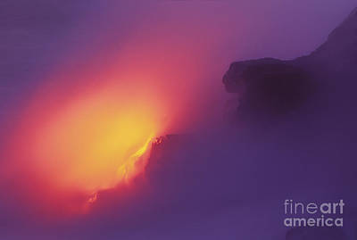 Lava Meets The Sea Print by William Waterfall - Printscapes
