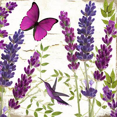 Hummingbird Painting - Lavande II by Mindy Sommers