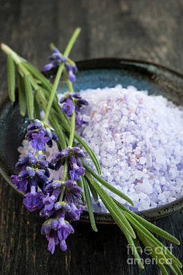 Pampering Photograph - Lavender Bath Salts by Elena Elisseeva