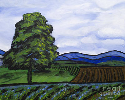 Lansdcape Painting - Lavender Farm by Ginevre Smith