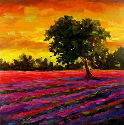 Lavender Fire Original by Chris Brandley