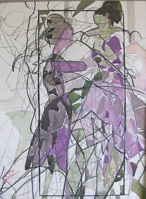 Lavender Ladies Print by Carole Johnson