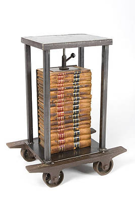 Law Books Table Print by Benjamin Bullins