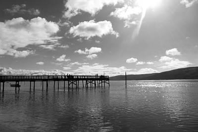 California Ocean Photograph - Lawson's Landing Black And White by Sierra Vance