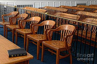 Empty Chairs Photograph - Lawyer - The Courtroom by Paul Ward