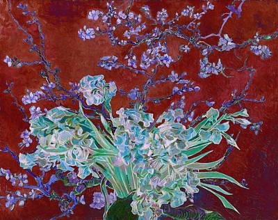 Blooming Digital Art - Layered 5 Van Gogh by David Bridburg