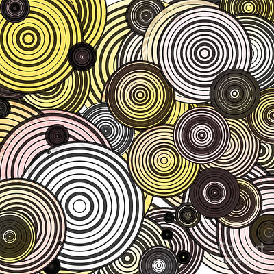 Algorithmic Digital Art - Layered Circles by Gaspar Avila