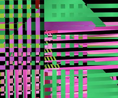 Lattice Digital Art - Layered Worlds by Ruth Moratz