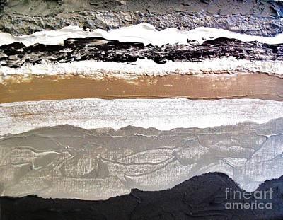 Etc Mixed Media - Layers L by Marsha Heiken