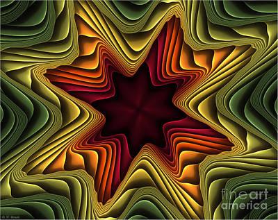 Layers Of Color Print by Deborah Benoit