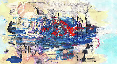 Huge Abstract Art Painting - Laziness - Large Bright Pastel Abstract Art by Modern Art Prints