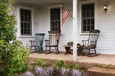 Rocking Chairs Photograph - Lazy Afternoon by Robin-lee Vieira