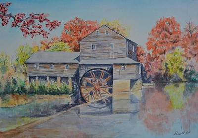 Pigeon Forge Painting - Lazy Days At The Old Mill by Russell Fox