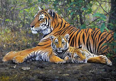 Mammals Painting - Lazy by Gabriel Hermida