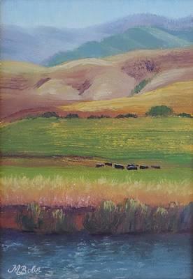 Watson Lake Painting - Lazy Grazing  by Margaret Bobb