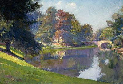 Edge Painting - Le Bois De Bruxelles by Hippolyte Petitjean