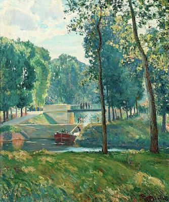 Le Canal Du Midi Print by Gustave   Albert