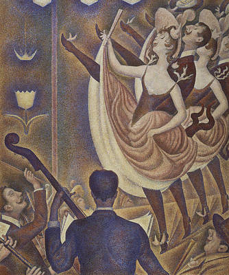 Dance Floor Painting - Le Chahut by Georges Pierre Seurat