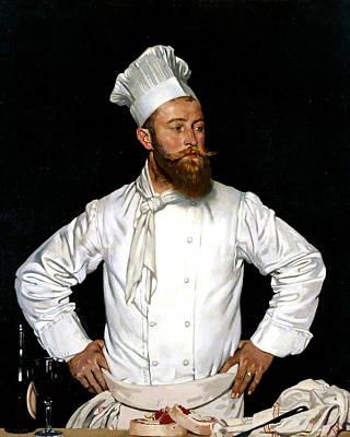 Le Chef De L'hotel Chatham Print by William Orpen