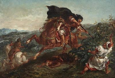 Eugene Delacroix Painting - Le Combat by Eugene Delacroix