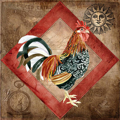 Le Coq - Greet The Day Print by Audrey Jeanne Roberts