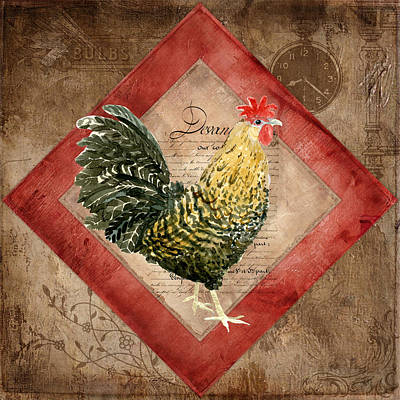 Le Coq - Morning Call Print by Audrey Jeanne Roberts