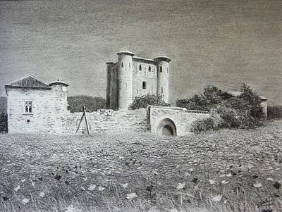 Flowerfield Painting - Le Donjon D'arques by Peter Livens