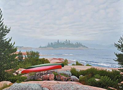 Le Hayes Island Original by Kenneth M Kirsch