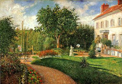 Le Jardin Des Mathurins Pontoise Print by Camille Pisssarro