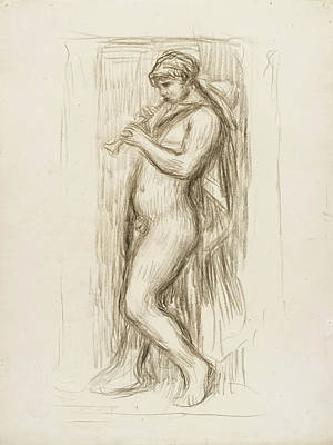 Pierre-auguste Renoir Drawing - Le Joueur De Fluteau by Pierre-Auguste Renoir