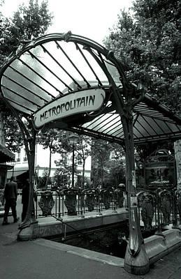 Kathy Yates Photograph - Le Metro As Art by Kathy Yates