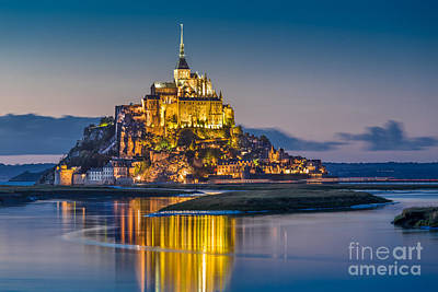 Saint Michael Photograph - Le Mont Saint Michel by JR Photography