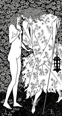 Le Mysterieux Jardin De La Rose Print by Aubrey Beardsley