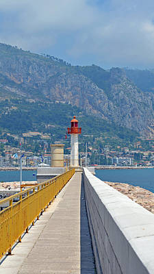 Menton Photograph - Le Phare by Corinne Rhode