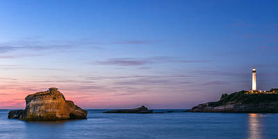 Print featuring the photograph Le Phare De Biarritz by Thierry Bouriat