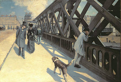 Stroller Painting - Le Pont De L'europe by Gustave Caillebotte