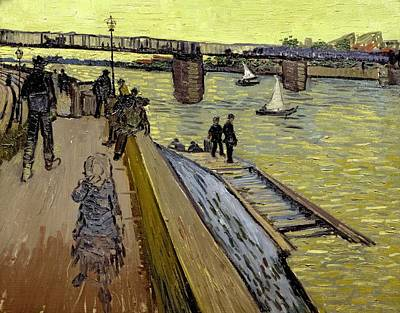 Quayside Painting - Le Pont De Trinquetaille In Arles by Vincent Van Gogh