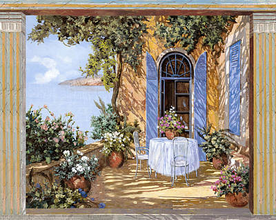 Door Painting - Le Porte Blu by Guido Borelli