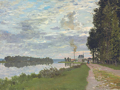 Reflecting Water Painting - Le Promenade D'argenteuil by Claude Monet