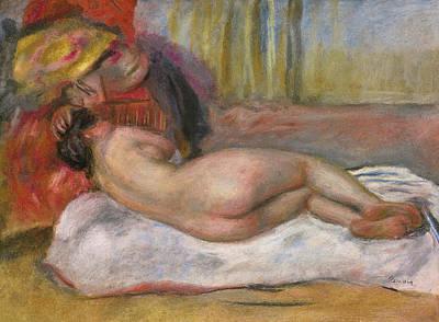 Pierre-auguste Renoir Drawing - Le Repos by Pierre-Auguste Renoir