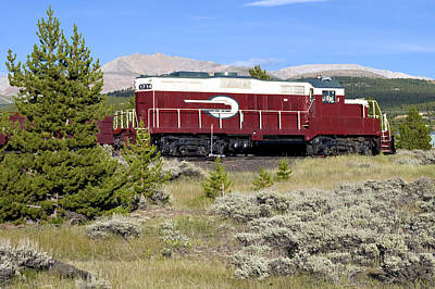 Leadville Colorado And Southern Railroad Car Print by Brendan Reals