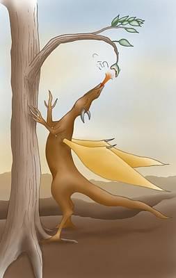 Digital Drawing - Leaf Burner by Jennifer Schimmrich
