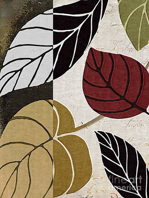 Leaf Painting - Leaf Story by Mindy Sommers