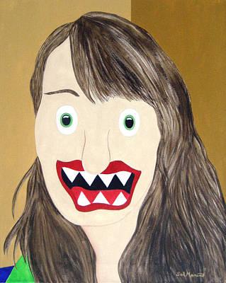 Funism Painting - Leah Saulnier - Painting Maniac by Sal Marino