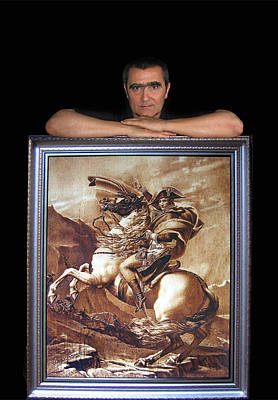 Pyrography - Leaning On Napoleon by Dino Muradian