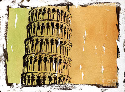 Campanile Painting - Leaning Tower Detail by Ryan Fox