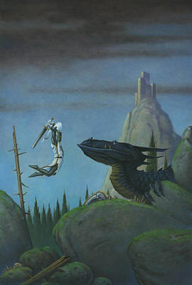 Knights Castle Painting - Leap Of Faith by Stacy Drum