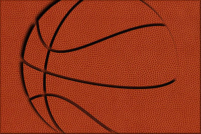 Leather Basketball Art Print by Joe Hamilton