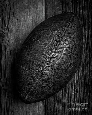 College Days Photograph - Leather Pigskin Football by Edward Fielding